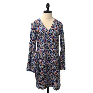 🛍Charles Henry bell sleeve Shift dress Printed XS